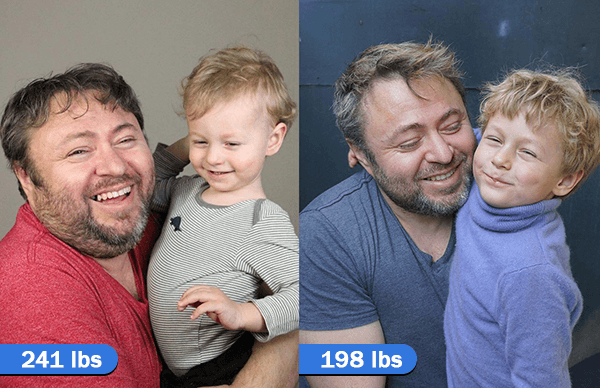 wlossy weight loss before after